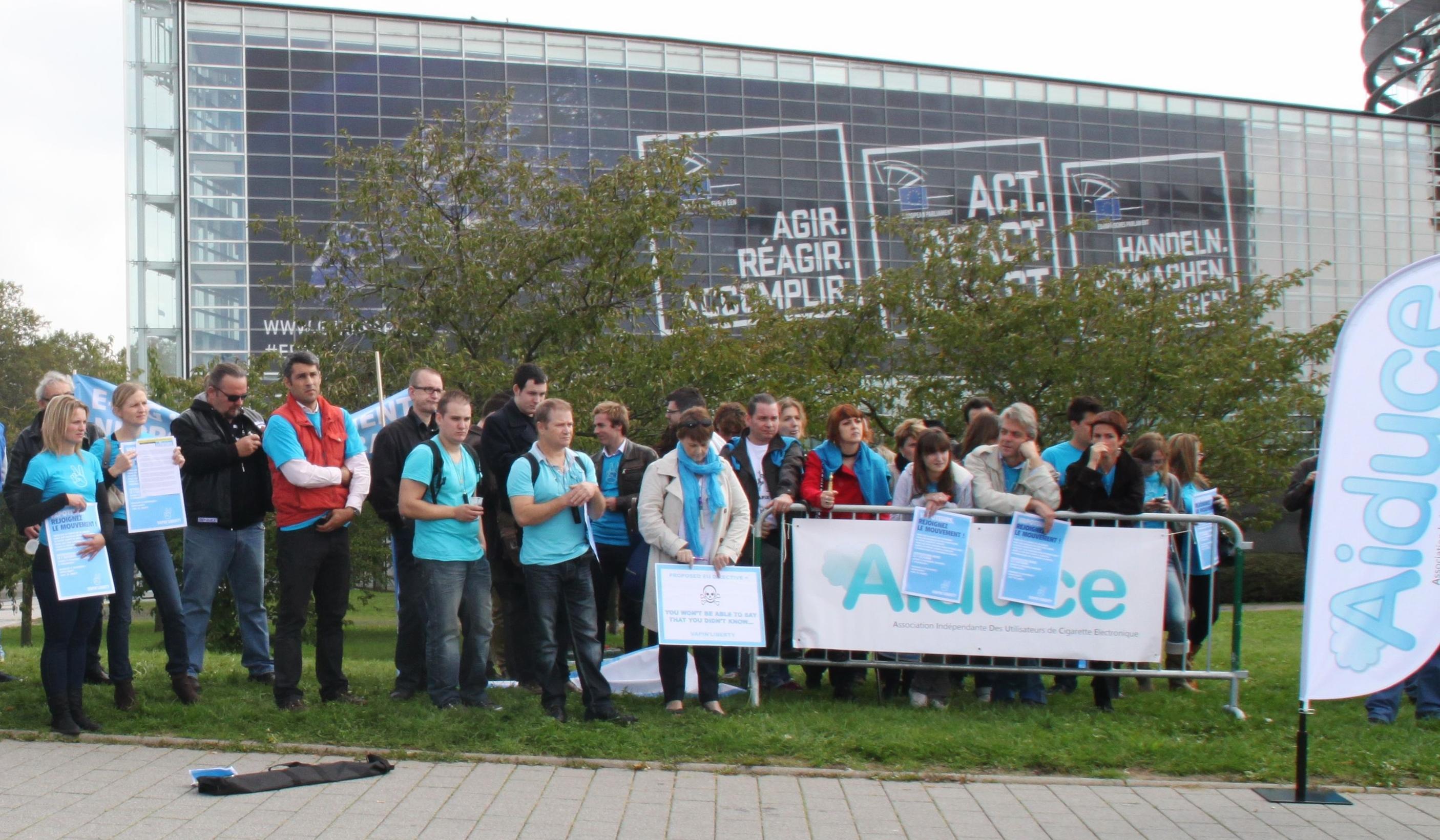 Manifestation Aiduce Parlement européen