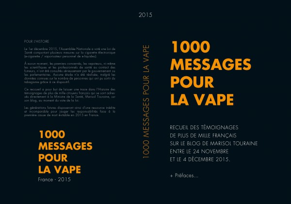 couverture Livre 1000 messages pour la vape